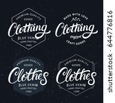set of clothing and clothes... | Shutterstock .eps vector #644776816