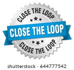 close the loop round isolated... | Shutterstock .eps vector #644777542