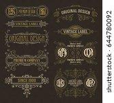 old vintage floral elements  ... | Shutterstock .eps vector #644780092