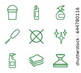 cleaning icons set. set of 9... | Shutterstock .eps vector #644780116