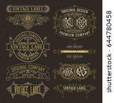 old vintage floral elements  ...   Shutterstock .eps vector #644780458