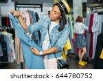 african american hipster girl... | Shutterstock . vector #644780752