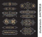 old vintage floral elements  ... | Shutterstock .eps vector #644780818