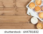 coconut muffins. pennant flags... | Shutterstock . vector #644781832