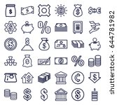 investment icons set. set of 36 ... | Shutterstock .eps vector #644781982
