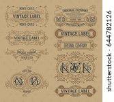 old vintage floral elements  ...   Shutterstock .eps vector #644782126