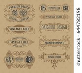 old vintage floral elements  ... | Shutterstock .eps vector #644782198