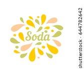 soda color splash juice... | Shutterstock .eps vector #644782642