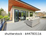 contemporary deck features a... | Shutterstock . vector #644783116