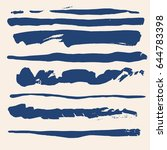 set of different grunge vector... | Shutterstock .eps vector #644783398