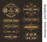 old vintage floral elements  ... | Shutterstock .eps vector #644785948