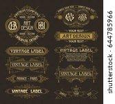 old vintage floral elements  ... | Shutterstock .eps vector #644785966