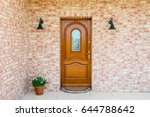 Stylish Wooden Front Door In A...