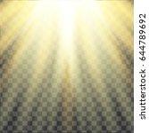 yellow warm light effect. sun... | Shutterstock .eps vector #644789692