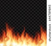 vector burning realistic fire... | Shutterstock .eps vector #644789845