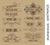 old vintage floral elements  ... | Shutterstock .eps vector #644790925