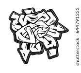 urban art monochrome grafitti...   Shutterstock .eps vector #644791222