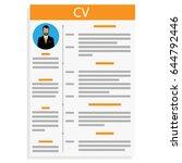vector illustration cv or... | Shutterstock .eps vector #644792446