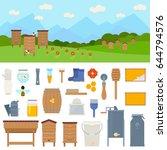 apiary vector flat... | Shutterstock .eps vector #644794576