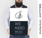 we need you hiring employment... | Shutterstock . vector #644797888
