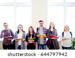group of college students | Shutterstock . vector #644797942