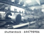 gym interior with equipment | Shutterstock . vector #644798986