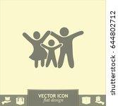 happy family icon | Shutterstock .eps vector #644802712