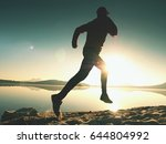 silhouette of active athlete... | Shutterstock . vector #644804992
