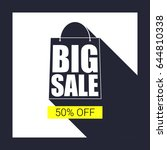 big sale shopping bag... | Shutterstock .eps vector #644810338