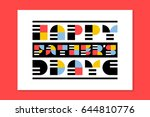 flat style fathers day greeting ... | Shutterstock .eps vector #644810776