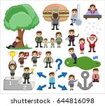 mix graphic of holiday  people... | Shutterstock .eps vector #644816098