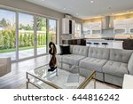 contemporary style living room... | Shutterstock . vector #644816242