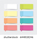 set of sticky stickers with... | Shutterstock .eps vector #644818246