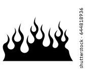 flame vector tribal tattoo... | Shutterstock .eps vector #644818936