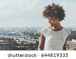cute laughing ebony girl... | Shutterstock . vector #644819335