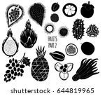 hand drawn silhouettes of... | Shutterstock .eps vector #644819965