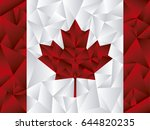 canada flag triangle vector | Shutterstock .eps vector #644820235
