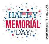memorial day banner with... | Shutterstock .eps vector #644823646