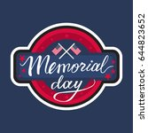 memorial day banner with... | Shutterstock .eps vector #644823652