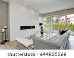 contemporary style living room... | Shutterstock . vector #644825266