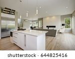 luxury kitchen accented with... | Shutterstock . vector #644825416