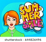 summer sale message and... | Shutterstock .eps vector #644826496