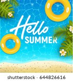 hello summer web banner... | Shutterstock .eps vector #644826616
