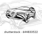 car concept.car sketch.vector... | Shutterstock .eps vector #644833522