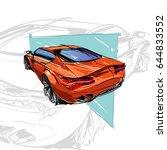 car concept. car sketch. vector ...   Shutterstock .eps vector #644833552