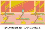 flat colorful gym 09 | Shutterstock .eps vector #644839516