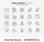 thin line icons set of business ... | Shutterstock .eps vector #644840512