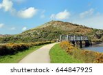 iron railway bridge on the... | Shutterstock . vector #644847925