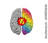 versus letters human brain...   Shutterstock .eps vector #644850646
