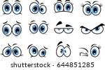 cartoon eyes in vector | Shutterstock .eps vector #644851285